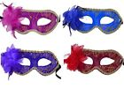 Venetian Mask With Feather Roses Carnival, Carnival, Club, Eye Mask New