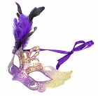 New Venetian Costume Masquerade Cosplay Fancy Ball Party Mask with feather Party