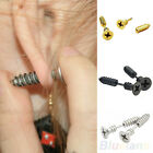 SINGLE COOL UNISEX PERSONALIZED STAINLESS STEEL WHOLE SCREW STUD EARRINGS CHARM