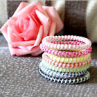 10 Pcs Spiral Slinky Hair Head Bands Elastics Bobbles Ties Scrunchies Candy