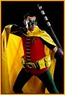 Cape Robin Reveals the front of your Costume Men's S to XL Yellow Satin Batman