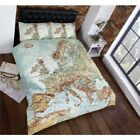 Map Of The World  Duvet set. Single, Double and Kings Size