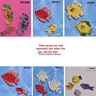 FISH -  CERAMIC KILN FIRED MOSAIC TILES for your Project ( Pick you Group ) #4