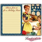 Vintage Retro Thanksgiving Holiday Mom Housewife Party Invitations Customized