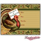 Vintage Retro Thanksgiving Holiday Turkey Dinner Party Invitations Customized