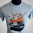 SMOKEY AND THE BANDIT T SHIRT BLUE BURT REYNOLDS BEAUFORD T JUSTICE TRANS AM