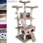 Cat Kitten Scratching Post Tree Sisal Climbing Excercise Activity Centre Toy 5ft