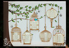 LARGE A1/ A2 Canvas Wedding Table/ Seating Plan ANTIQUE/ VINTAGE BIRD CAGES