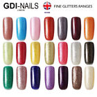 GDI NAILS - UV LED Soak Off Gel Art Varnish Nail Polish Fine Glitters Collection