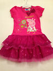 girls character peppa pig frilly tutu dress socks 12-24 month size age 1-2-3-4-5
