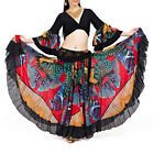HenryG Belly Dance Bottom,Chiffon 23 Meters Tribal Style Gypsy Skirt Butterfly