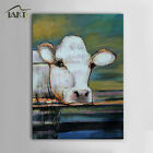 Hand Painted Abstract Oil Painting Animal Cow on Canvas Wall Art Decor No Frame