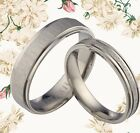 UK BOX SET Plain Groom & Bride Wedding Engagement Anniversary Titanium Rings Set
