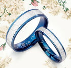 His&Her Blue Titanium Wedding Rings 1UK083B3