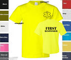First Responder T-Shirt Emergency Medical Service Shirt -Two Sides Print SZ S-2X