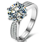Luxury Wedding Ring 2 Carat NSCD Nano Synthetic Diamond Ring Silver Engagement