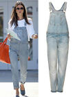 Topshop Moto Denim Dungarees Overall Bleach Light Blue UK 8 10 12 14 US 4 6 8 10