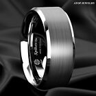 Kyпить 8mm Brushed Center Tungsten Carbide 8mm Men's Wedding Band Comfort Fit ATOP Ring на еВаy.соm