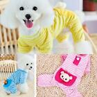 Cat Puppy Bear Style Clothes Apparel Clothing Small Pet Dog Stripes Pajamas Coat