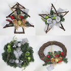 Christmas Decoration 30mm Wreaths, Trees or Stars - 2 Colours - AC136966