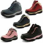 New Ladies Groundwork Steel Toe Safety Trainers Hiking Waterproof Shoes Size 3-8