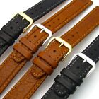 'Bermuda' Flat Leather Watch Band Strap Super Quality by CONDOR 18mm 068R