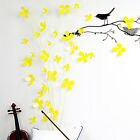 3D Yellow Flowers Wall Sticker Decal Home Interior Decoration