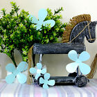 3D Turquoise Flowers Wall Sticker Decal Home Interior Decoration