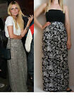 HIGH WAISTED BROWN FLORAL PRINT JERSEY MAXI SKIRT 6 8 10 12 14 16 PETITE TO TALL