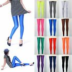 12 Colors Neon Candy Shiny Bright Fluorescent Glow Stretch Tights Leggings Pants