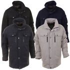 Mens Black Stone Great High Quality Military Style Jacket Quilted Car Coat
