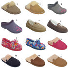 Ladies Fur Fleece Lined Mules Slippers Womens Shoes UK size 3 4 5 6 7 8