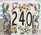 Nature Life Styled- Hand Painted Art Tile House Numbers