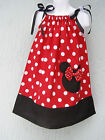 Lovefeme Minnie Mouse Girls Pillowcase Dress Size 1T,2T,3T Red 2014