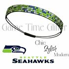 NWT Seattle Seahawks Team Color Womens Rhinestone Headband Wear w/ Your Jersey $5.49 USD on eBay