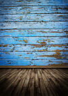 Vintage Blue Wood Floor Backdrop Photography Background Baby Photopro 5x7ft F203