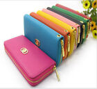 Womens Fashion Clutch Zipper Faux Leather Long Handbag Lady's Wallet Coin Purse