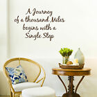 'A JOURNEY OF A THOUSAND MILES....' Inspirational Quote Wall Art Sticker (Q49)