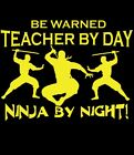 School Teacher T-Shirt Ninja T-Shirt Great Gift Funny Maths English Science
