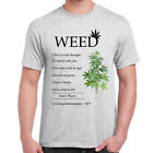 Mens Funny Sayings Slogans Novelty T Shirts-Smoke Weed Instructions tshirt