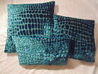 Designers Guild Velvet Fabric Nabucco Turquoise Cushion Covers XL Size Available