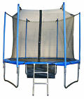 8FT 10FT 12FT 14FT TRAMPOLINE WITH INNER SAFETY NET ENCLOSURE RAIN COVER LADDER