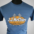J J McClure Racing T-Shirt The Cannonball Run Burt Reynolds Gumball Rally V8 Car