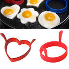 Funny 1 2PC Silicone Fried Fry Frier Poacher Pancake Egg Ring Mould Mold