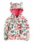 *BNWT* Baby Joules Girls Flissy Button Up Fleece - Cream Floral - NEW FOR AW14