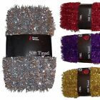 Purple, Gold, Silver or Red Christmas Tree 50ft Tinsel GREAT VALUE