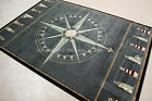 4 x 7 area rug - Nautical Lighthouse Tropical Compass Carved Blue Black Area Rug *FREE SHIPPING*
