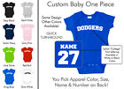 Dodgers Baby One Piece - Custom Name and Number, Creeper, Onesie