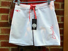 "O'NEILL WOMENS BOARD SHORTS & WAX COMB SURF 26"" WAIST WHITE/PINK BNWT FREE P&P"