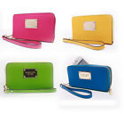 Luxury Wristlet Leather ZIP WALLET CLUTCH Case Cover For Apple iPhone 4S 5S 5C